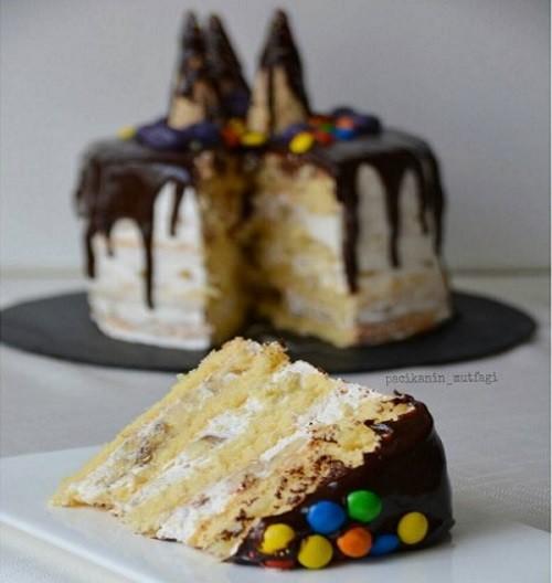 Çikolatalı Muzlu Yaş Pasta