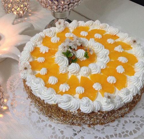Fındık Krokanlı Portakallı Yaş Pasta