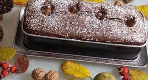 Kakaolu Cevizli Armutlu Kek